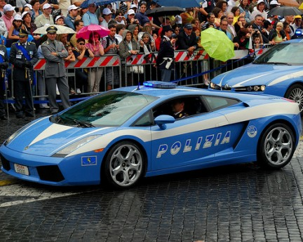 Only In Italy A Lamborghini Police Car Grand Voyage Italy